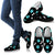 Paws and bones Black Women's Slip Ons