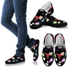 Veterinary Pattern Black Women's Slip Ons-slip ons-I love Veterinary