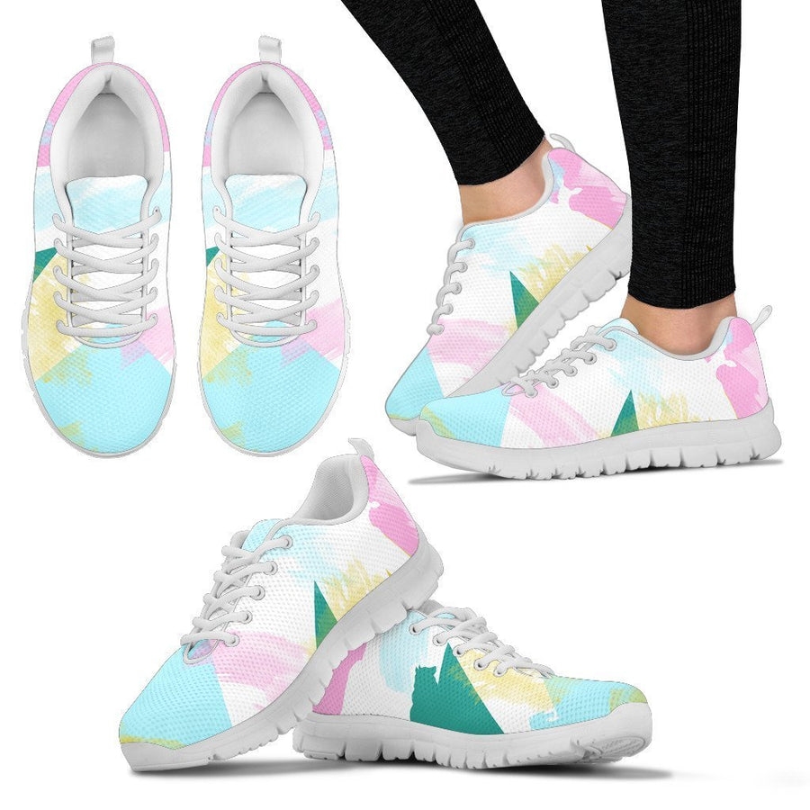 Abstract Animals - Women's Sneakers-Sneakers-I love Veterinary