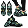 Autumn Dark Paw Prints Women's Sneakers-Sneakers-I love Veterinary