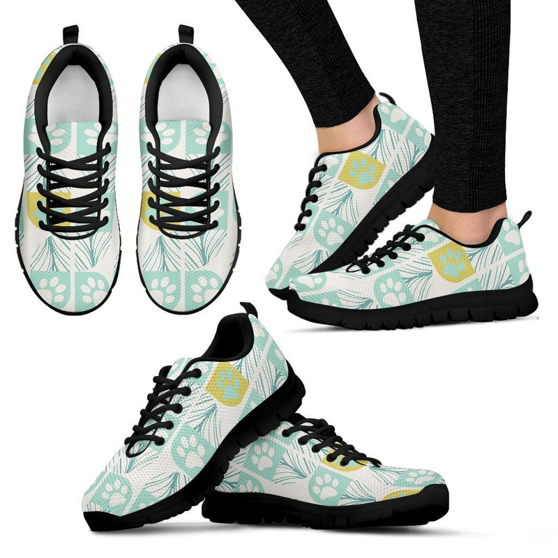 Autumn Paw Prints Women's Sneakers-Sneakers-I love Veterinary