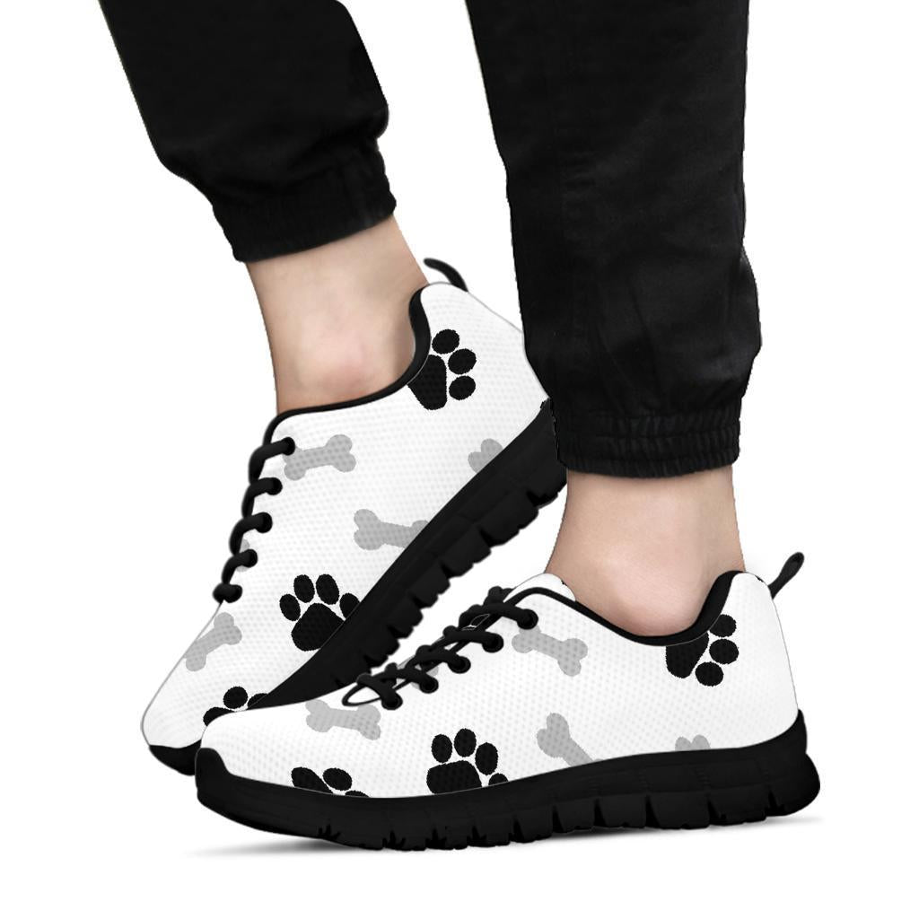 Black Paws and bones Black Soles Sneakers-Sneakers-I love Veterinary