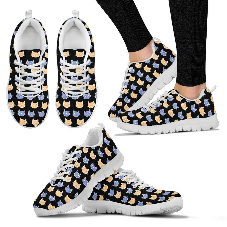 Cats Pattern  -  Women's Sneakers