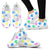 Colorful Pawprints White Women's Sneakers
