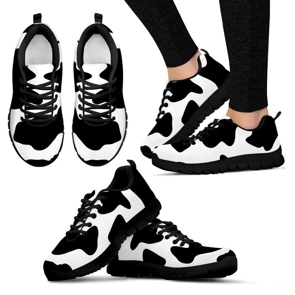 Cow Pattern Women's Sneakers-Sneakers-I love Veterinary