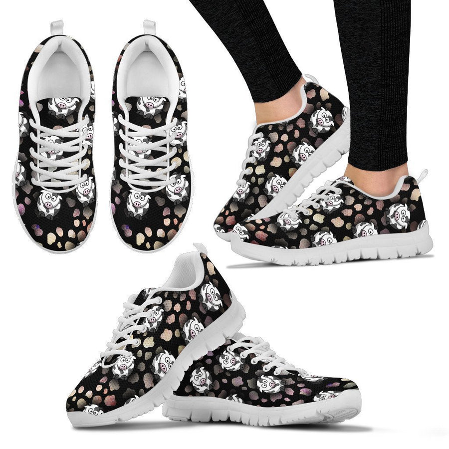Crazy Cows - Women's Sneakers-Sneakers-I love Veterinary