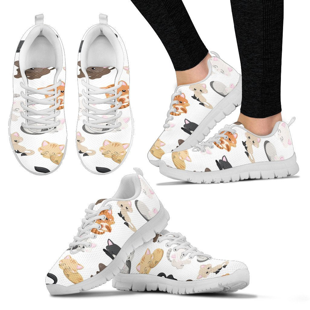 Kitty Kat Women's Sneakers-Sneakers-I love Veterinary