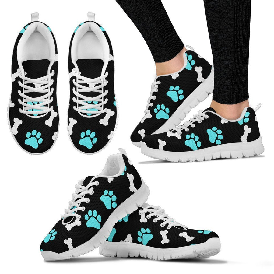 Paws and bones  -  Black  Women's Sneakers
