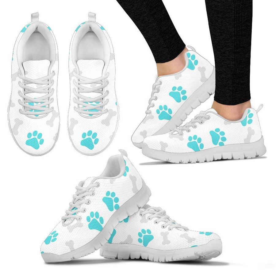 Paws and Bones -  White Women's Sneakers