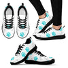 Paws and Bones - White Women's Sneakers-Sneakers-I love Veterinary