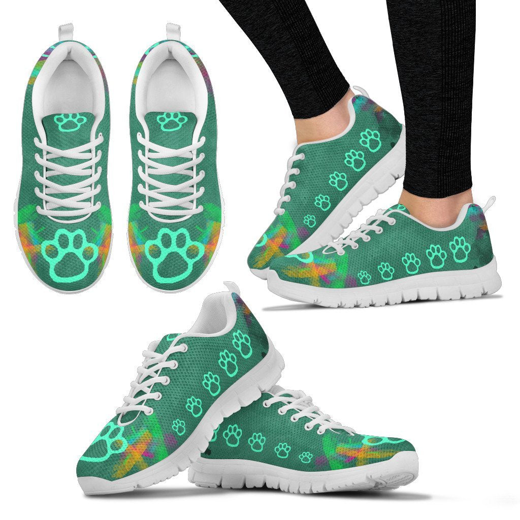 Rainbow Paw Prints Sneakers-Sneakers-I love Veterinary