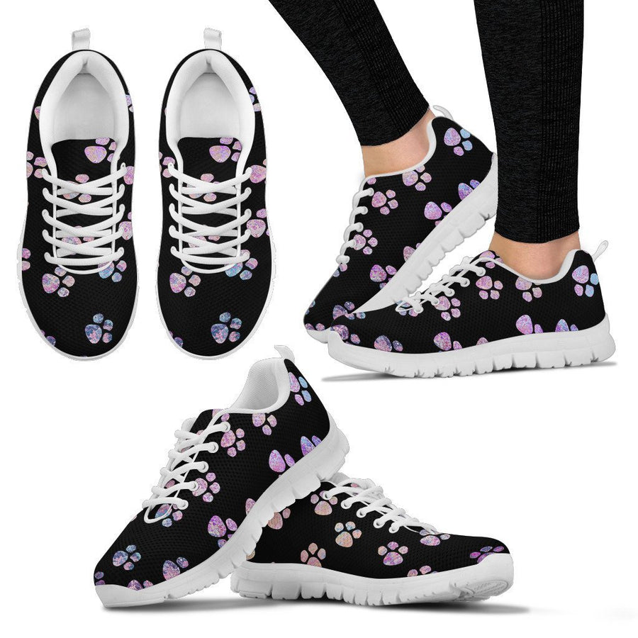 Watercolor Paws Women's Sneakers