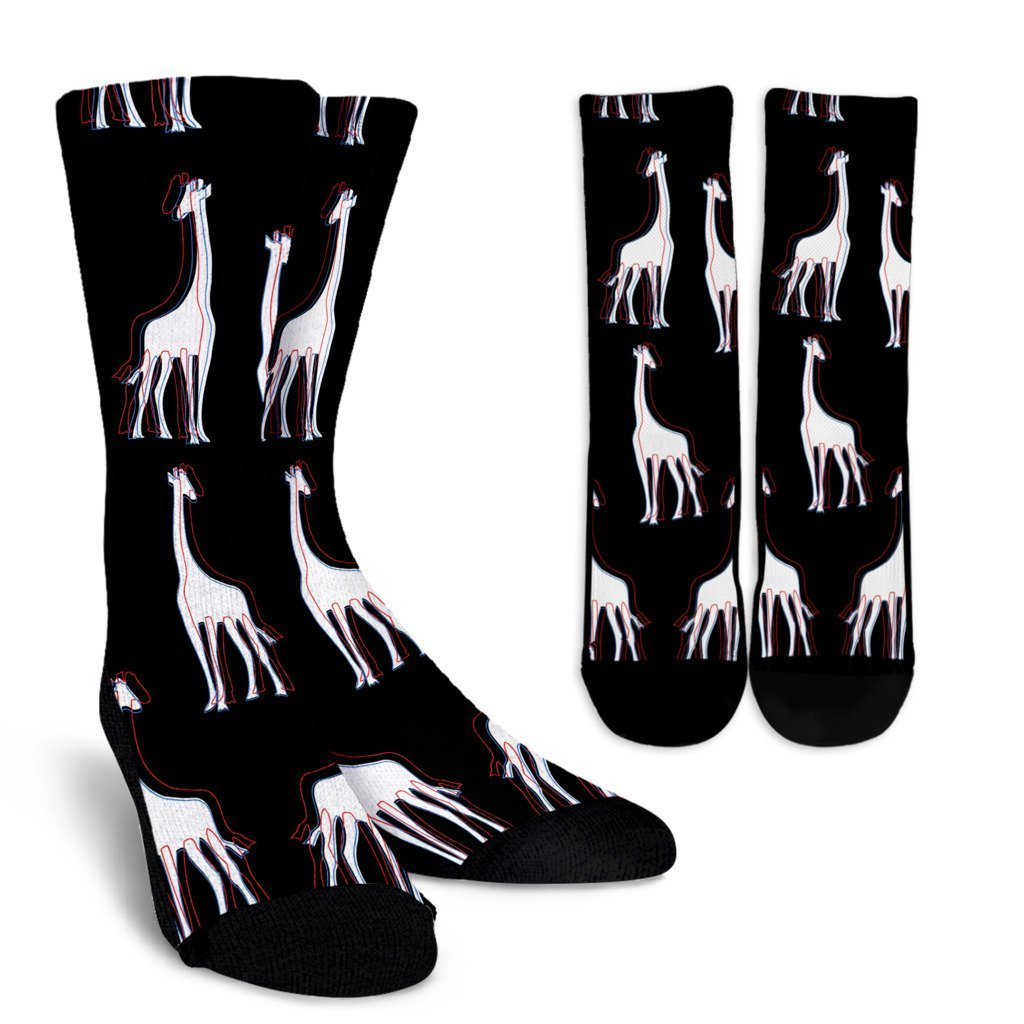 3D Giraffes Socks-Socks-I love Veterinary