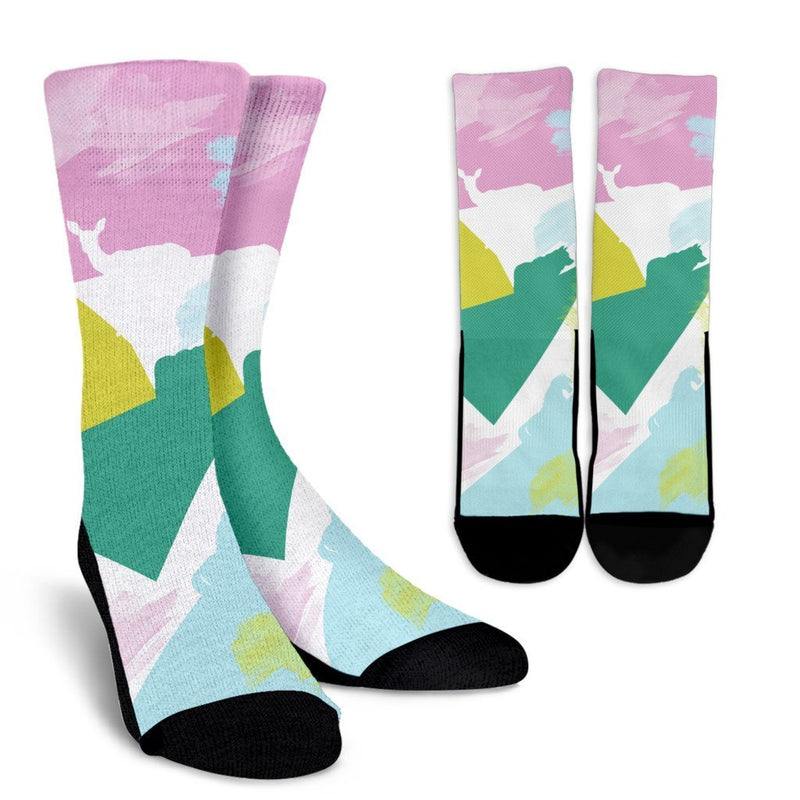 Abstract Animals Socks-Socks-I love Veterinary
