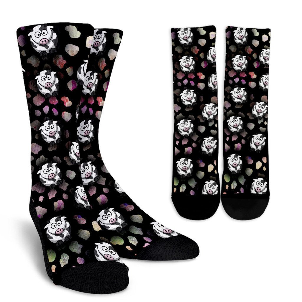 Crazy Cows Socks-Socks-I love Veterinary