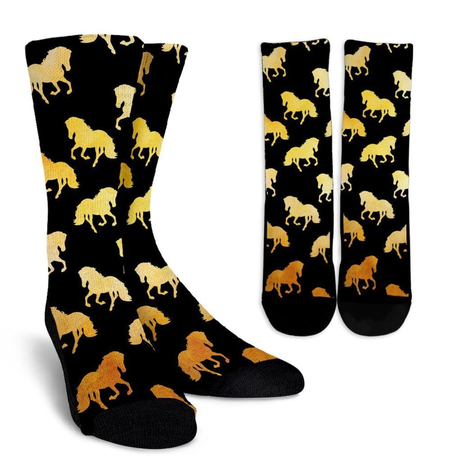 Golden Horses Socks-Socks-I love Veterinary