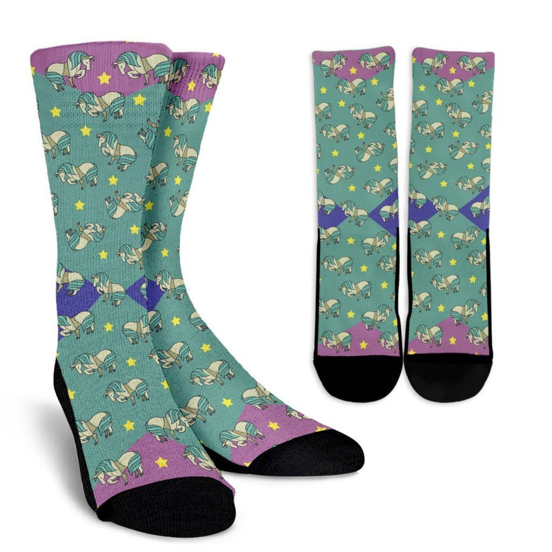 Horses And Stars Socks-Socks-I love Veterinary