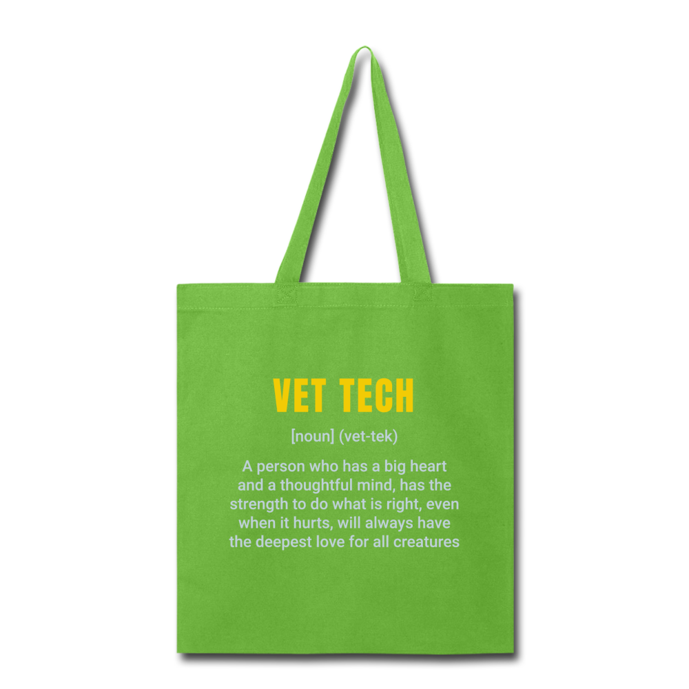 Vet Tech Definition Cotton Tote Bag-Tote Bag-I love Veterinary