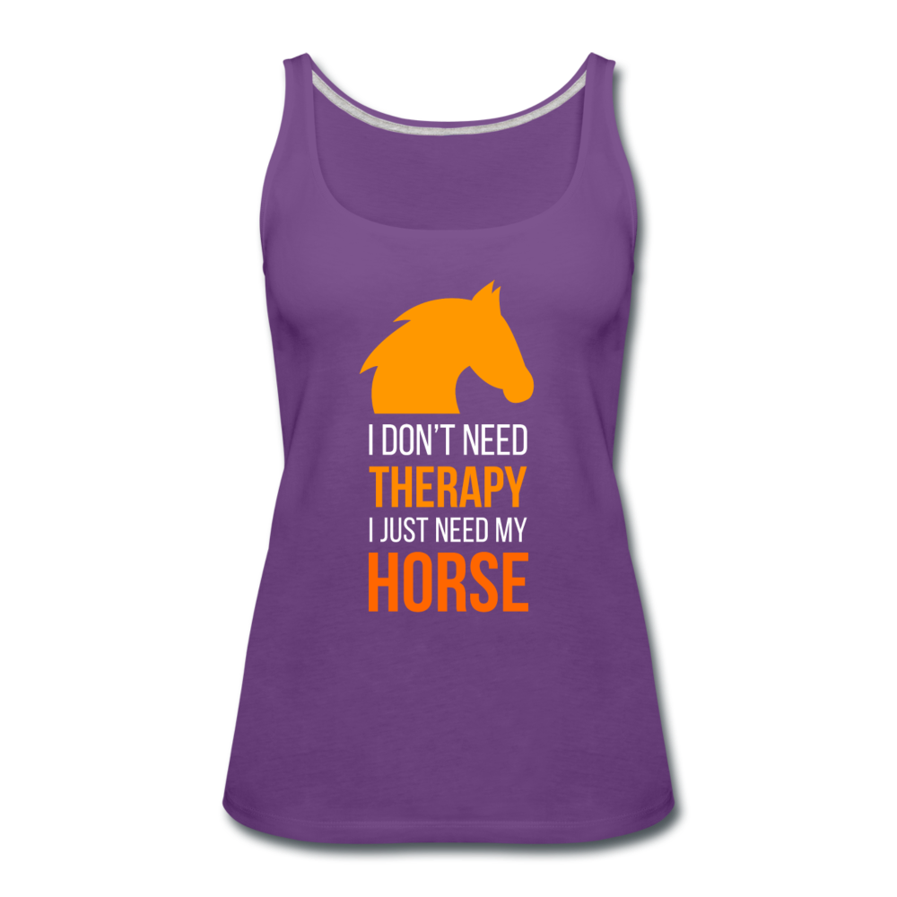 I don't need therapy I just need my Horse Women's Premium Tank Top-Women's Premium Tank Top | Spreadshirt 917-I love Veterinary