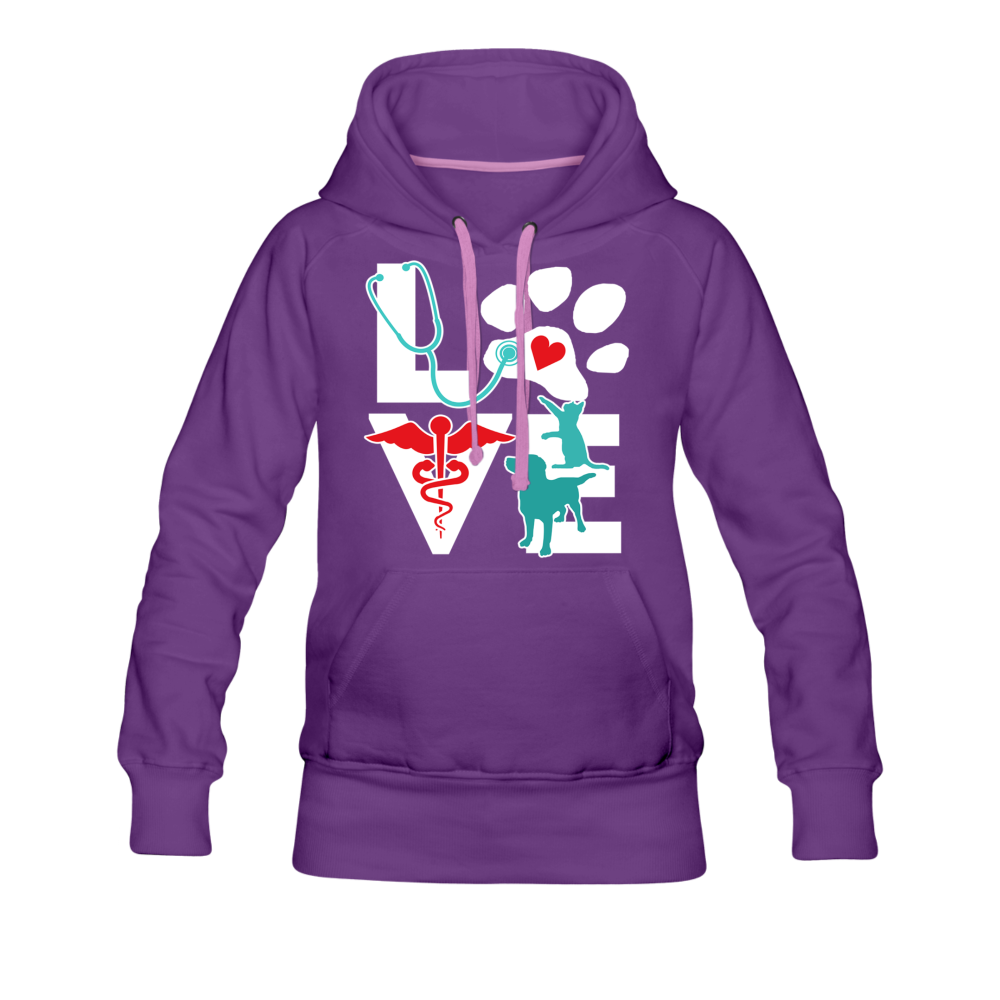 Veterinary Love Dog and Cat Women's Premium Hoodie-Women's Premium Hoodie | Spreadshirt 444-I love Veterinary