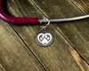 Pawprint in heart Stethoscope tag-Stethoscope tag-I love Veterinary