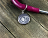 Pawprint in stethoscope tag-Stethoscope tag-I love Veterinary