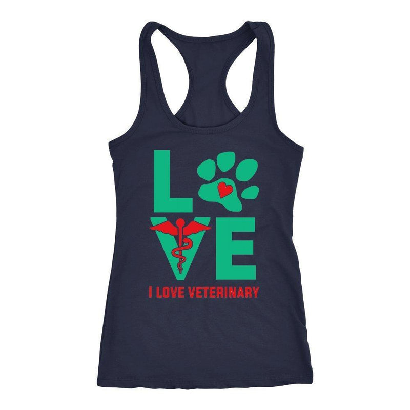 I Love Veterinary Tank Tops-T-shirt-I love Veterinary