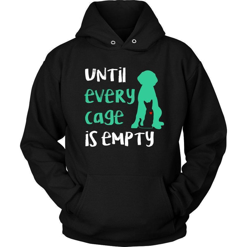 Animal Rescue - Until every cage is empty Shirts-T-shirts and Hoodie-I love Veterinary