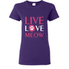 Cats- Live, Love, Meow T-shirt/ Hoodie-T-shirts and Hoodie-I love Veterinary