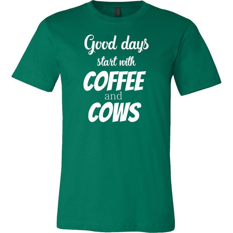Large Animal Vet- Coffee and cows T-shirt/ Hoodie-T-shirts and Hoodie-I love Veterinary