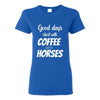 Large Animal Vet- Coffee and horses T-shirt/ Hoodie-T-shirts and Hoodie-I love Veterinary