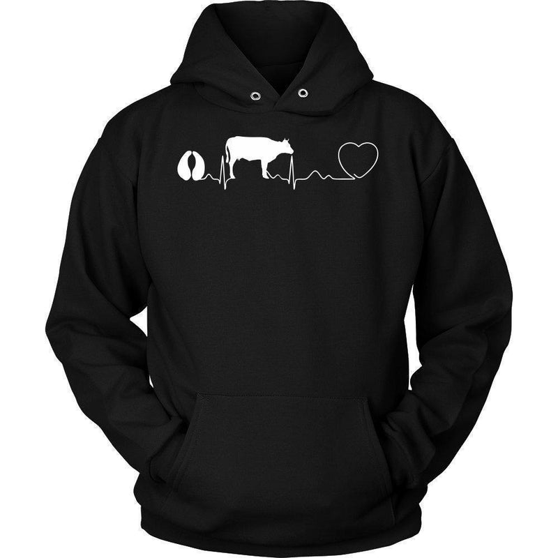 Large Animal Vet- Cow pulse T-shirt/ Hoodie-T-shirts and Hoodie-I love Veterinary