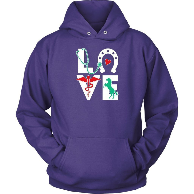 Large Animal Vet- Equine Love T-shirt/ Hoodie-T-shirts and Hoodie-I love Veterinary