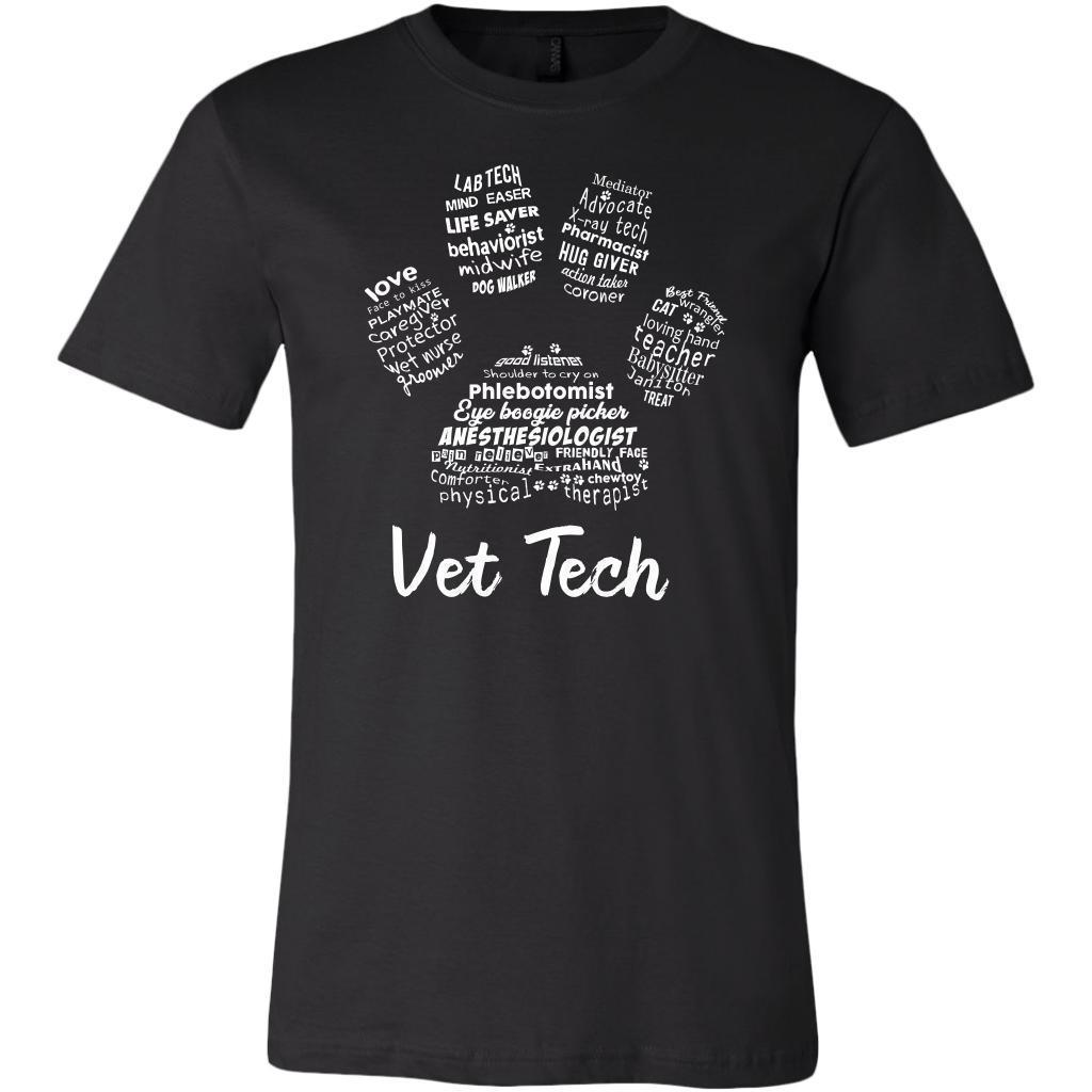 Vet Tech- Paw Print T-shirt or Hoodie-T-shirts and Hoodie-I love Veterinary