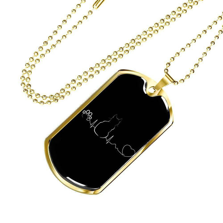 Cat Lover Jewelry Gift Luxury Dog Tag Necklace - Cat Pulse-Tag Necklace-I love Veterinary