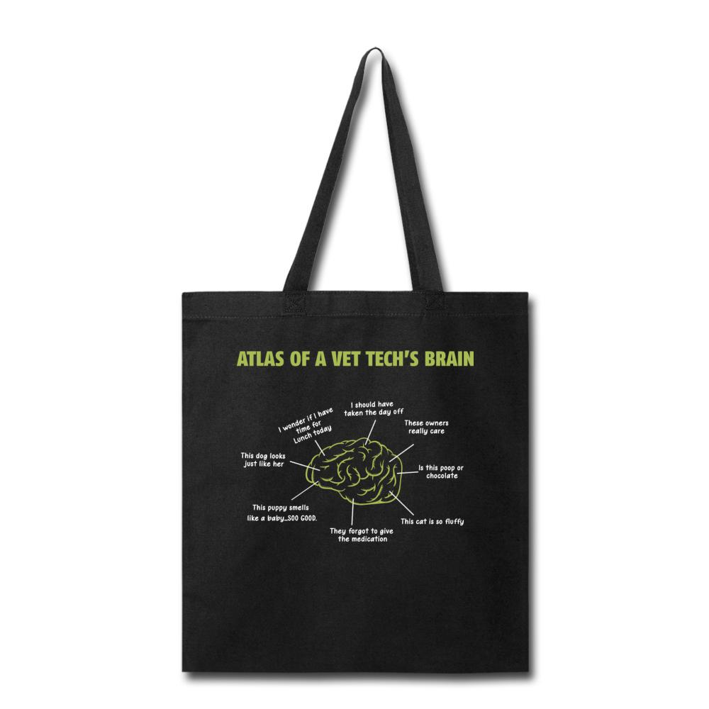 Atlas of a Vet Tech's Brain Cotton Tote Bag-Tote Bag-I love Veterinary