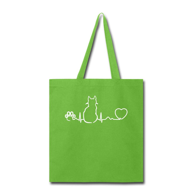 Cat Pulse Cotton Tote Bag-Tote Bag-I love Veterinary