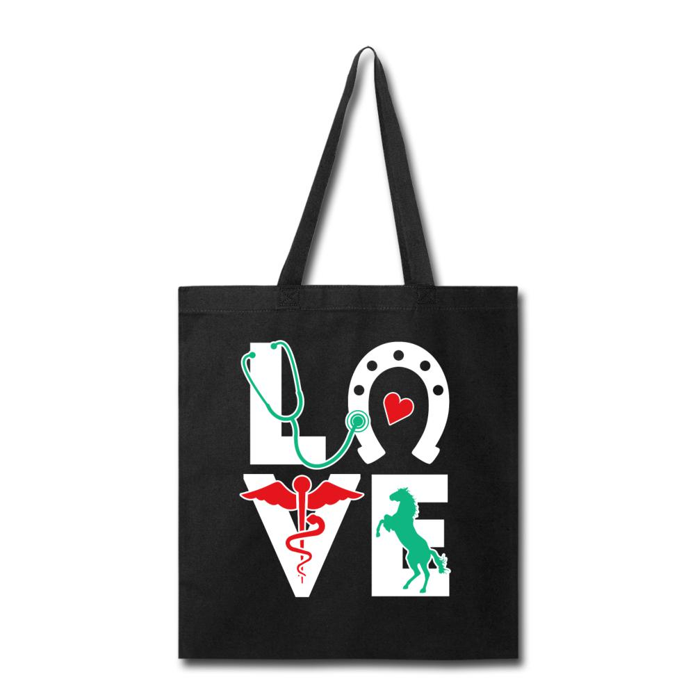 Horse Love Equine Veterinarian Cotton Tote Bag-Tote Bag-I love Veterinary