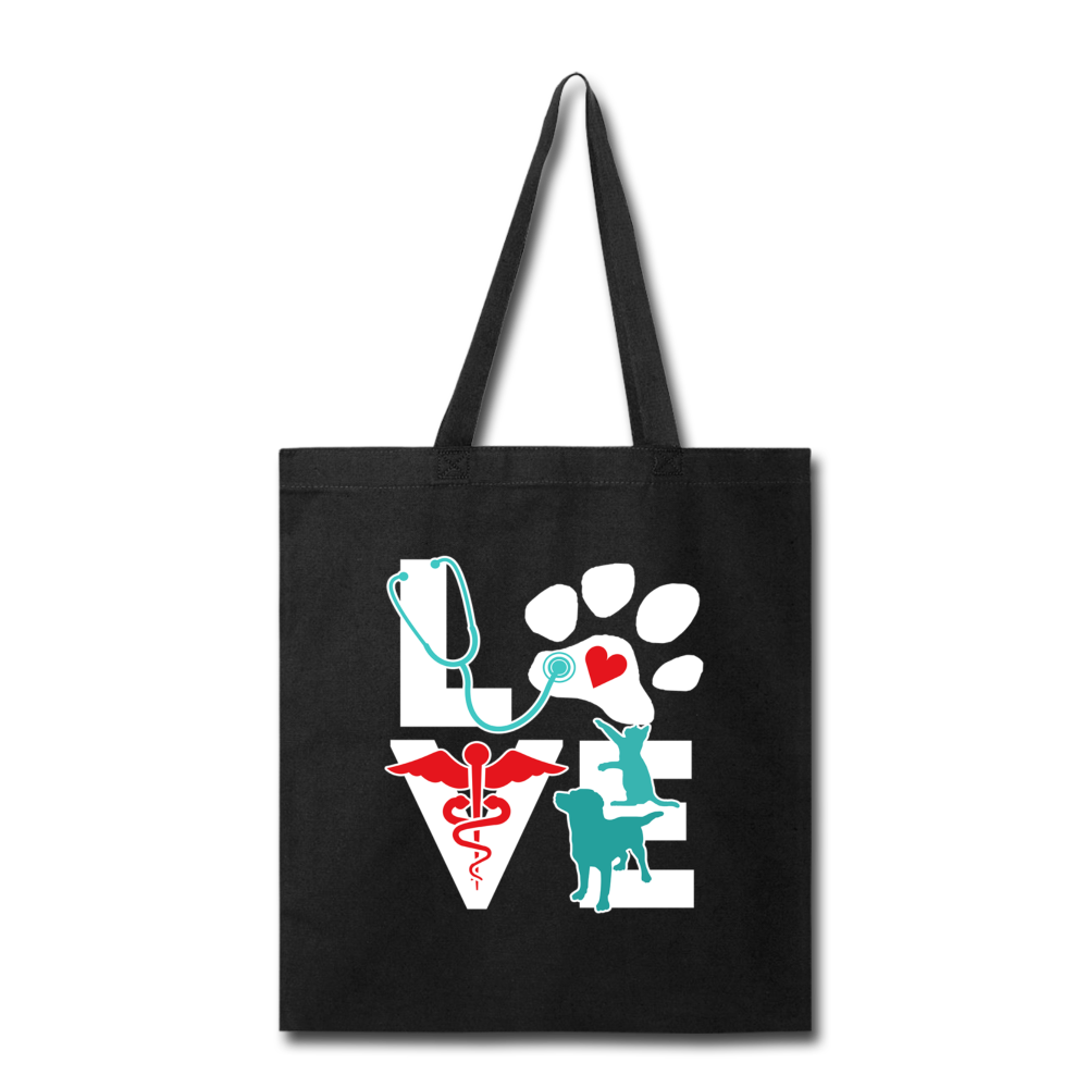 Love Veterinary cat and dog Cotton Tote Bag-Tote Bag-I love Veterinary