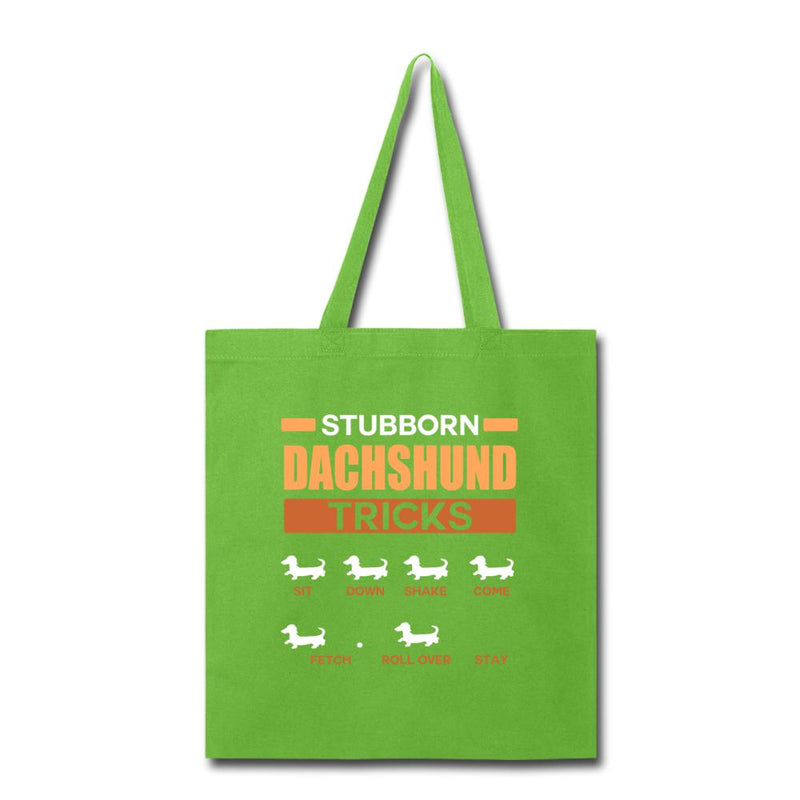Stubborn dachshund tricks Cotton Tote Bag-Tote Bag-I love Veterinary