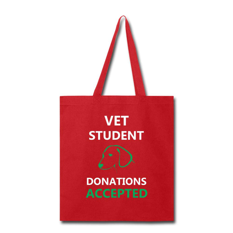 Vet Student Donations Accepted Cotton Tote Bag-Tote Bag-I love Veterinary