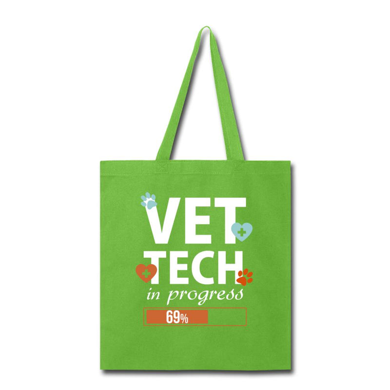 Vet Tech in progress Cotton Tote Bag-Tote Bag-I love Veterinary
