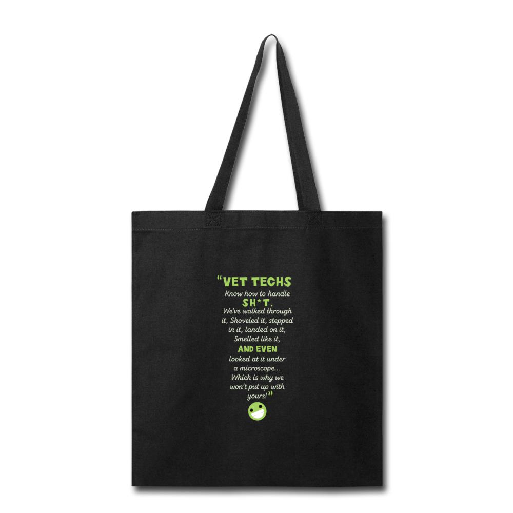 Vet Tech - Know how to handle it Cotton Tote Bag-Tote Bag-I love Veterinary