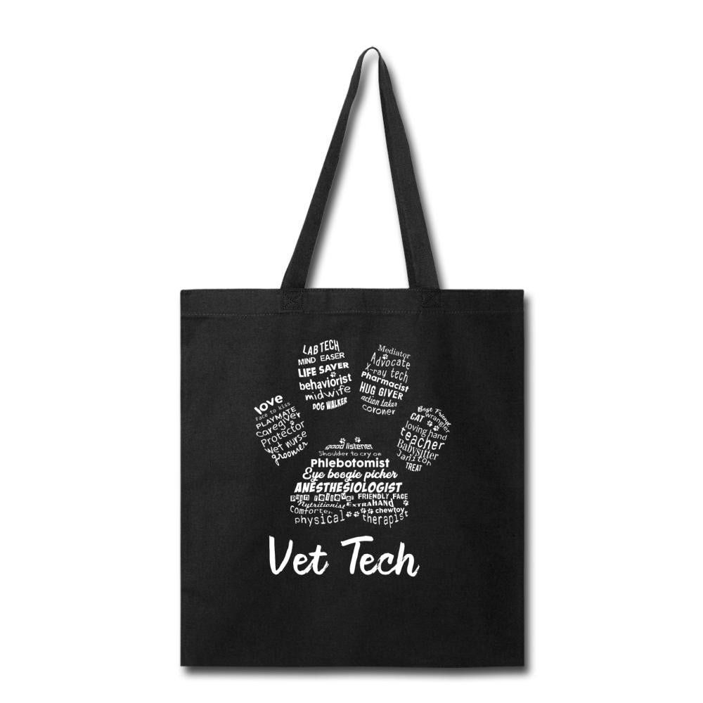 Vet Tech - Paw Print Cotton Tote Bag-Tote Bag-I love Veterinary