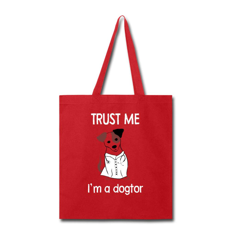 Veterinarian - Trust me I'm a dogtor Cotton Tote Bag-Tote Bag-I love Veterinary