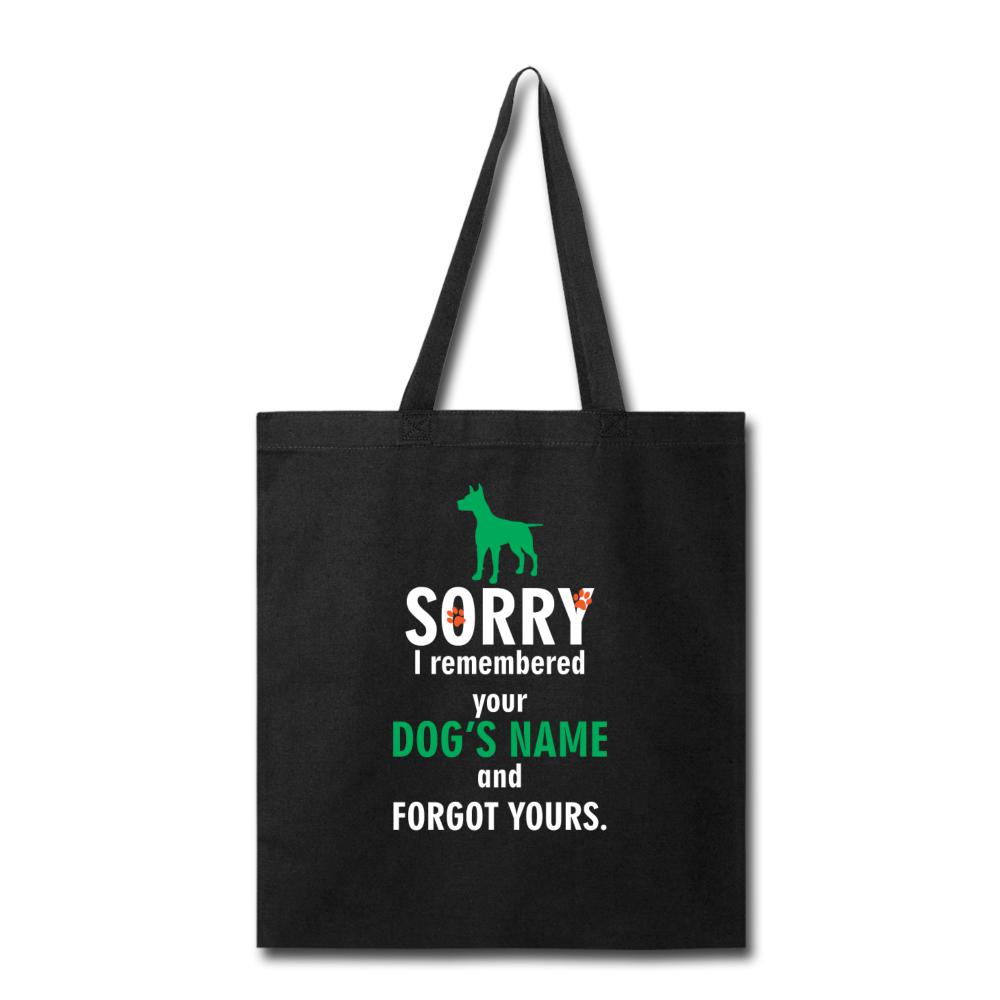 Veterinary - I remembered your dogs name Cotton Tote Bag-Tote Bag-I love Veterinary