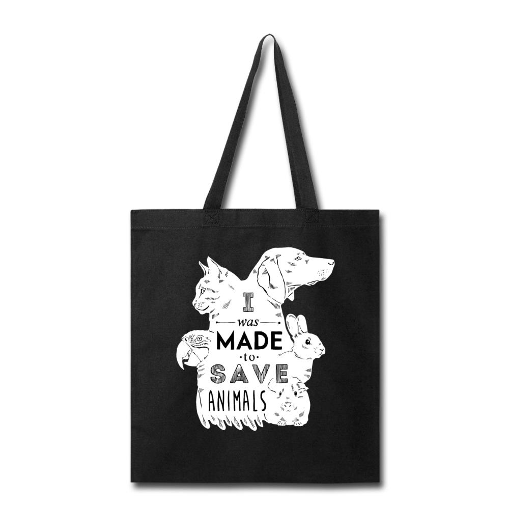 Veterinary - I was made to save animals White Cotton Tote Bag-Tote Bag-I love Veterinary