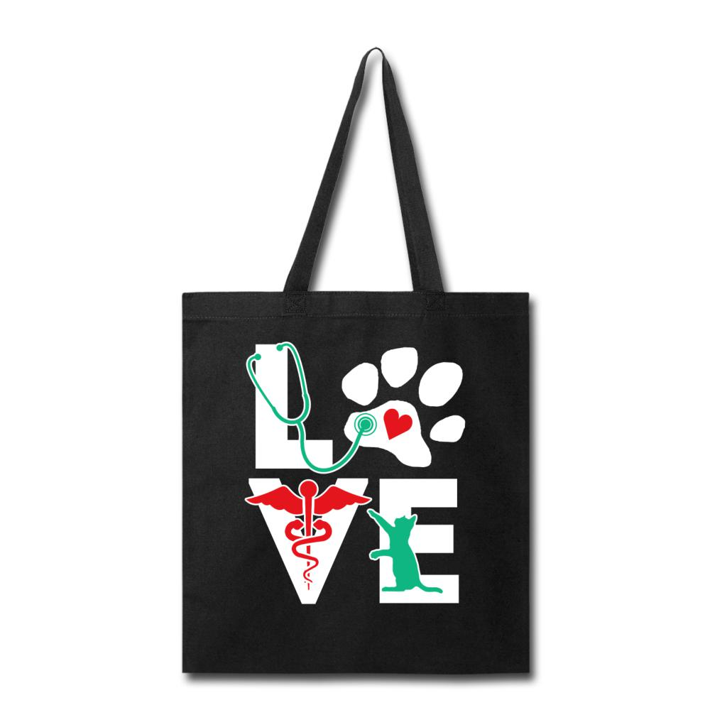 Veterinary Love Cat - Cotton Tote Bag-Tote Bag-I love Veterinary