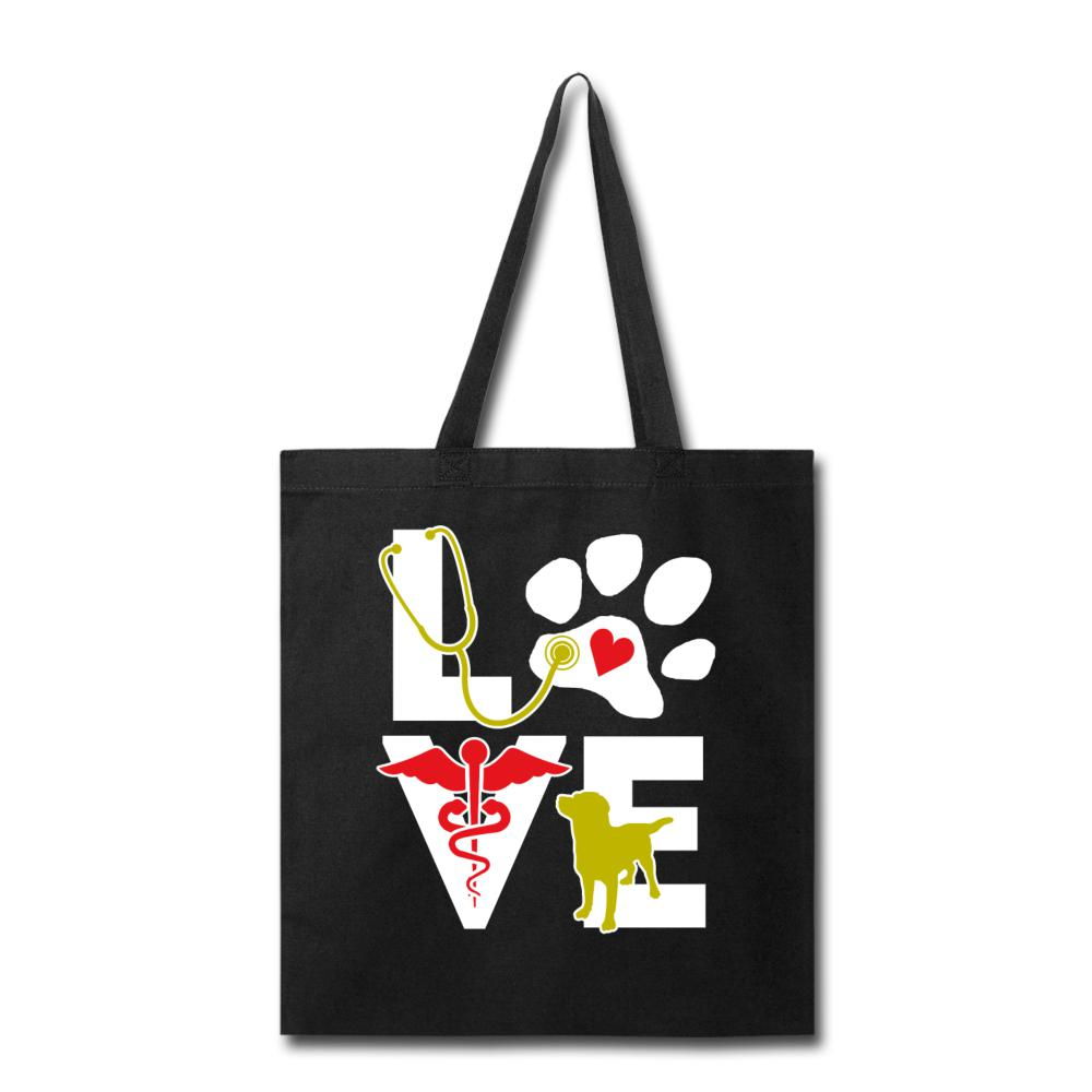 Veterinary - Love dog Cotton Tote Bag-Tote Bag-I love Veterinary