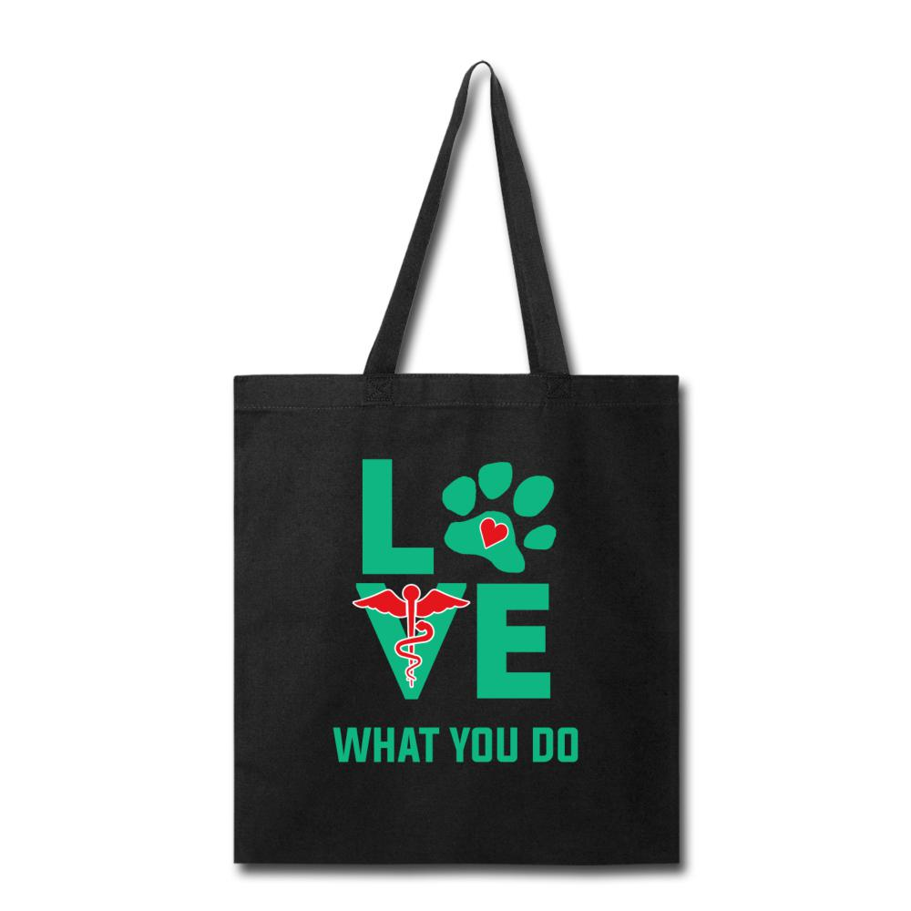 Veterinary - Love what you do Cotton Tote Bag-Tote Bag-I love Veterinary